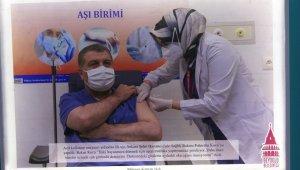 Korona virüsle mücadelenin kahramanları olan sağlık çalışanları için sergi