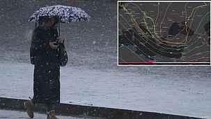 """Meteoroloji'den heyecanlandıran paylaşım: """"10-20 santim kar geliyor"""""""