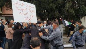 Netanyahu'nun ziyaretini protesto eden Filistinlilere İsrail polisi müdahale etti