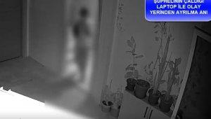 Öğrenci yurdundan hırsızlık anları güvenlik kameralarında