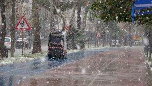 Ordu şehir merkezinde kar yağışı başladı