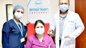 Özel MMT Amerikan Hastanesi'nde ilk aşı uygulandı