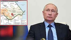 Rus basını tarihi Dağlık Karabağ haritasını yayınladı... Azerbaycan ile Türkiye birbirine bağlanıyor