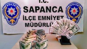 Sakarya'da sahte dolar bozduran şüpheli gözaltına alındı