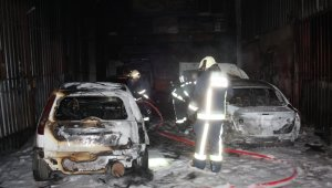 Sanayi sitesinde yangın paniği