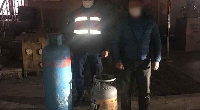 Sanayi tüpü hırsızları yakalandı