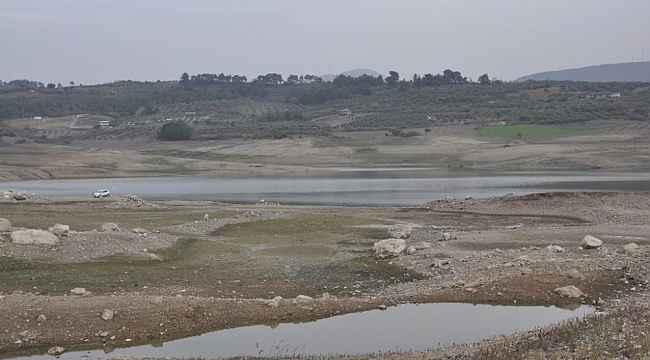 Sevişler Barajı'nda su seviyesinde büyük düşüş