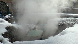 Şiddetli soğuklarda jeotermal su rahatlığı