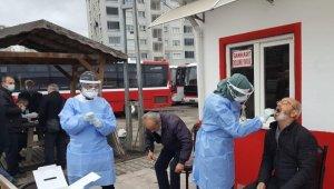 Şoförler karona virüs testinden geçiriliyor