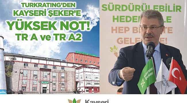 SPK Lisansı ile faaliyet yürüten kredi derecelendirme kuruluşu Turkratıng'den Kayseri Şeker'e yüksek not