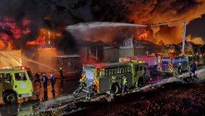 Suudi Arabistan'da depolarda büyük yangın