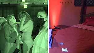 Swinger partisine baskın... Polis mekanda dans direkleri, kafesler ve yataklarla karşılaştı