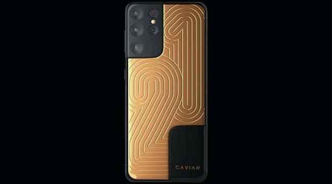 Tamamen altınla kaplanan Samsung Galaxy S21, 570 bin lira fiyatla satışa sunuldu