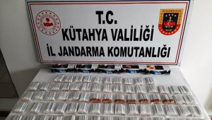 Tavşanlı'da bin 400 adet kaçak sigara ele geçirildi