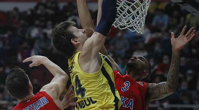 Fenerbahçe, lig lideri CSKA Moskova'yı deplasmanda 89-83 yendi
