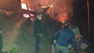 Trabzon'un Araklı ilçesi Taşgeçit mahallesinde çıkan yangın 6 saatte kontrol altına alındı