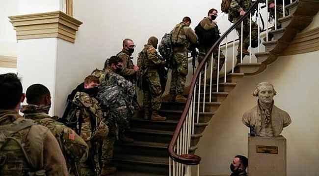 Trump'ın azil kararı sonrası binlerce Ulusal Muhafız, Kongre binasında nöbet tutuyor