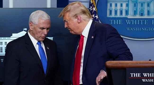Trump ve Pence'in görev süresinin dolduğu paylaşımını Bakanlık çalışanı yapmış