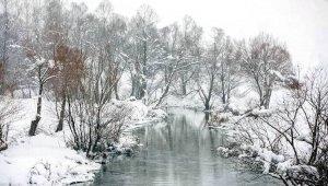 Tufanbeyli'de kar yağdı kartpostallık görüntüler ortaya çıktı