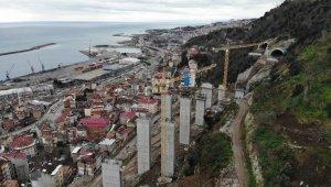 Türkiye'nin en maliyetli şehir içi yolları arasında gösteriliyor, 2. kısım inşaatı gece gündüz sürüyor