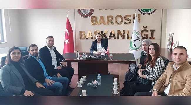 UCİM ekibinden Baro Başkanı Aydın'a Ziyaret