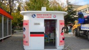 Uşak'ta bebek emzirme kabinleri açıldı