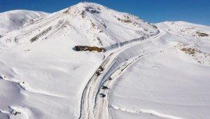 Van'da kardan dolayı kapanan yollar açılıyor