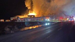 Washington eyaletinde fabrikada korkutan yangın