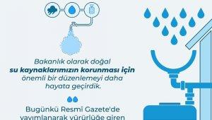 Yeni yapılacak binalarda yağmur suyu toplama sistemi zorunluluğu