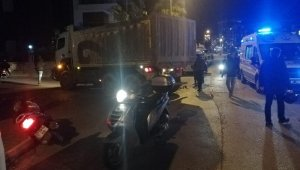 Alanya'da kamyonla motosiklet çarpıştı: 1 ağır yaralı
