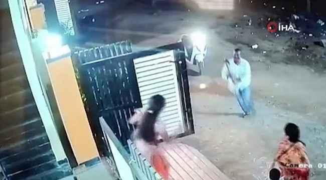 Baltalı saldırgan sokak ortasında kadına saldırdı