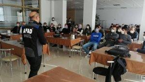 Bingöl'de 'Afet Farkındalık Eğitimleri'