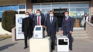 Çorum Ticaret Borsasınca verilen PCR cihazı vakaların düşüşüyle geri teslim alındı