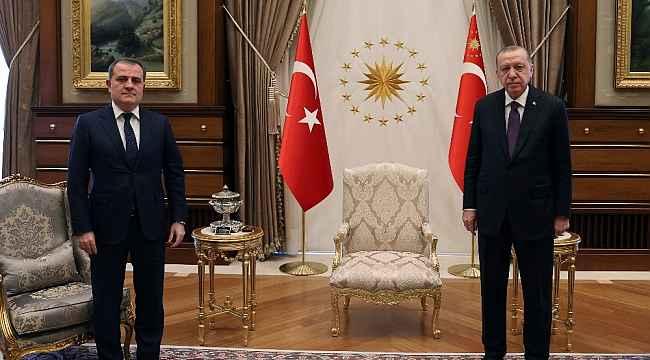 Cumhurbaşkanı Erdoğan, Azerbaycan Dışişleri Bakanı'nı kabul etti