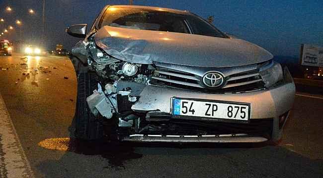 D010 karayolunda iki otomobil çarpıştı: 2 yaralı