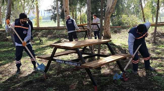 Karacailyas mesire alanı yenileniyor