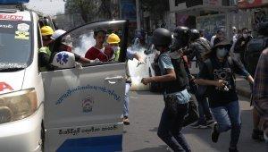 Myanmar'daki protestolarda ölü sayısı 3'e yükseldi