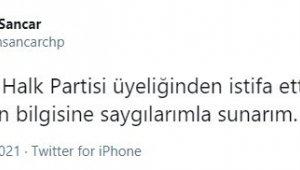 Teoman Sancar CHP'den istifa etti