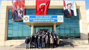 Tutşi, Ergani İçme Suyu Arıtma Tesisinde incelemede bulundu