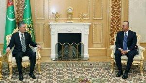 Bakan Çavuşoğlu Türkmenistan Devlet Başkanı Berdimuhamedov tarafından kabul edildi