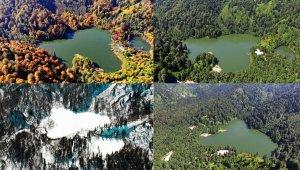 Borçka Karagöl'ün dört mevsim fotoğrafları büyülüyor