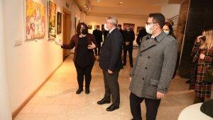Çorum'da 48 kadın ressam 48 eserle sergi açtı