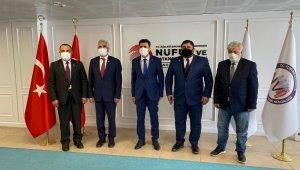 DATÜB heyetinden Nüfus ve Vatandaşlık İşleri Genel Müdürü Aygöl'e ziyaret