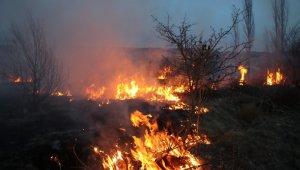 Domaniç'te sazlık alanda yangın çıktı