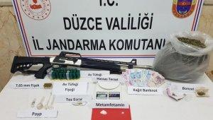 Düzce'de uyuşturucu operasyonu: 4 şüpheli yakalandı