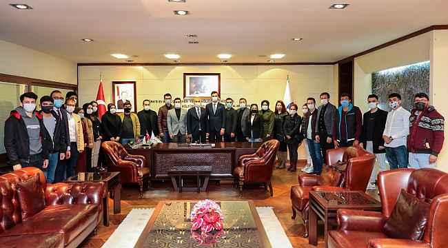 Gençlik kollarından Başkan Zolan'a ziyaret