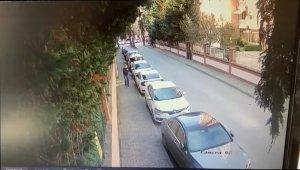 Güpegündüz arabanın camını patlatıp, hırsızlık yaptı