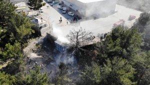 Kaynak yaparken ormanı yaktılar