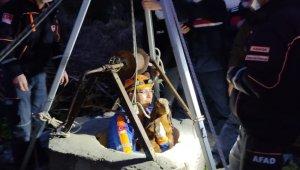 Kuyuya düşen yavru keçiler kurtarıldı