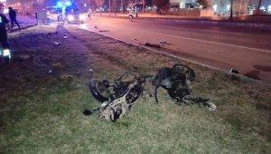 Moto kuryenin hayatını kaybettiği feci kaza kamerada - Bursa Haberleri
